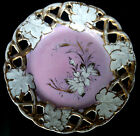Leaf Porcelain Dish - Pink, White and Gold Trim Floral - Made in Germany