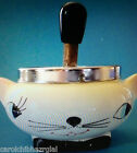 Holt Howard Cozy Kitty Style Plunger Ashtray Works  Meows EXCELLENT