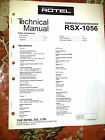 ROTEL RSX -1055 RSX1055  *FULL* SERVICE MANUAL