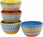 Certified International Valencia 5.25-inch Ice Cream Bowls (Set Of 4) Assorted