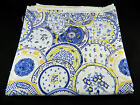 Waverly China Shop Blue Yellow White 100% Cotton Decorator Fabric 54
