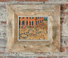 Venice Beach Scene -  1950s Oil Painting -Signed  Oil Painting on Canvas