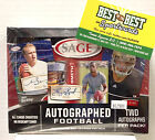 Factory Sealed 2013 Sage FOOTBALL Two Autographs Pack HOBBY BOX Manuel LACY