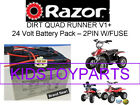 New 24V Battery Pack for Razor Quad Runner 2 pin connector w fuse