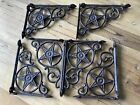 6 Cast Iron Antique Style Star Brackets, Garden Braces Shelf Bracket RUSTIC