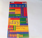 Pebbles Inc Cardstock Stickers School Sampler Words Related To School NOOP