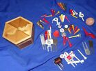 Antique, Vintage, Old, Rare, box of golf tees, divot tools, ball markers, ball