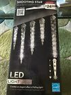 Gemmy LED Lightshow Shooting Star Icicle Lights White Set Of 8