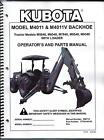 Kubota M4011 Backhoe Attachment Operator and Parts Manual
