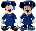 Disney Parks Mickey and Minnie Mouse Graduation Class of 2016 Plush Set 9 NEW