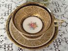 Vintage Paragon ROSES COBALT BLUE AND LOTS OF GOLD LACE Tea Cup