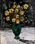 Morris Katz 'Still Life with Yellow Diasies' oil on board, Signed