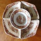 Nasco Mountain Woodland Transferware Transfer Ware Relish Appetizer Dish