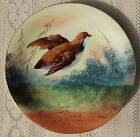 SIGNED QUAIL DESIGN PLATE W/GOLD EDGE*