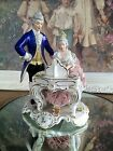 Dresden Lace Porcelain Figurine Large Group Piano German Woman Man Musicians