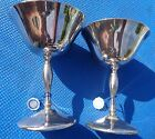 Champagne Goblets Italy By Eales of Sheffield Set Of 2 Silver Plated