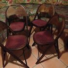Lot: 4 Orig. 30's 40's VINTAGE ANTIQUE BENTWOOD FOLDING CHAIRS Mid-Century