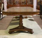 Beautiful 10' traditional mahogany 2 pedestal formal dining table seats 8-10