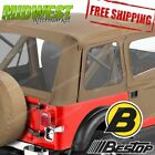 51597 04 Bestop Supertop Classic in Tan Fits 1976 1983 Jeep CJ5