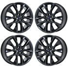 20 FORD EDGE BLACK CHROME WHEELS RIMS FACTORY OEM 2017 2018 SET 10046 EXCHANGE