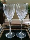 WATERFORD MARQUIS Caprice Platinum CRYSTAL Wine Goblets, SIGNED - SET OF 2!!