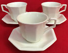 6 PC Johnson Brothers England Heritage White 3 - Cups &  3 - Saucers EXCELLENT!