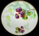 ANTIQUE~LIMOGES~1890+~BLACKBERRIES~EXPERTLY~PAINTED~ARTIST~SIGNED~PLATE!