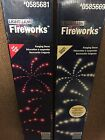 2 Boxes Gemmy Lightshow Fireworks Red White Starburst July New Years Eve