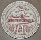 Vernon Kilns'  Red Plate for Memories of Imperial Council Session 1950  C(E)