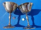 Champagne Goblets Made In Italy By Eales of Sheffield Set Of 2 Silver Plated