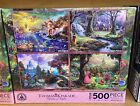 Disney Parks Thomas Kinked Ariel, Snow, Cinderella, Aurora Puzzle Set of 4 500