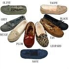 Moccasins Women Slip On Indoor Outdoor Shoe Slipper Fur Loafer 985