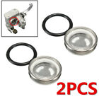 2PCS 18mm Motorcycle Bike Brake Master Cylinder Reservoir Sight Glass Len Gasket
