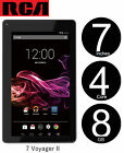 New RCA 7 Voyager II Tablet 4C 8GB Android 5.0XLollipop RCT6773W22B(Black)