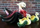 Set 3 Vintage HTF HULL USA RED Yellow Swans Centerpiece Planter Dish Bowl Scarf