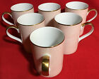 BEAUTIFUL Set of 6 Fitz & Floyd 420 ADOBE PEACH Cups - Mugs - JAPAN - EXCELLENT!