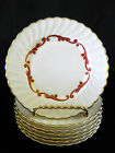 SYRACUSE CHINA BAROQUE 6 DINNER PLATES MADE IN AMERICA GOLD TRIM FLUTED EDGE