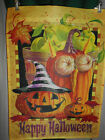 % HAPPY HALLOWEEN ~  GARDEN FLAG ~ 12 X 18  DESIGNED BY GEOFF ALLEN