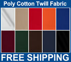 Twill Fabric Poly Cotton Many Colors Sold by Yard  Bolt Free Shipping