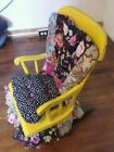 Ooak Vintage Boston bohemian child's rocking chair. Upcycled
