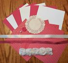 Stampin Up Rose Red Card Kit and Embellishments Kit 2