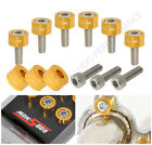 9Pc M8X1.25 Honda/Acura Engine Exhaustheader Washer Dress Up Bolts Gold