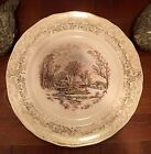 IVES DECORATIVE PLATES 22KT GOLD TRIMMED AROUND THE RIM SET OF FOUR