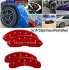 MGP Caliper Covers 2015 2016 Ford Mustang Bar  Pony Front Rear Red 10202SMB2RD