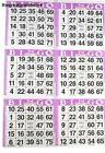 6 on Purple Bingo Paper Cards - 500 sheets - 3000 cards American Games