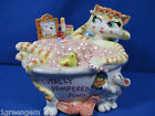 FITZ & FLOYD FUN FUNDS TOTALLY PAMPERED CAT IN BUBBLE BATH TUB BANK *GREAT GIFT*