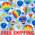 Fleece Fabric Hot Air Balloons 60 Wide Style 44190 Free Shipping