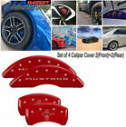MGP Caliper Covers 2015 Ford Mustang Bar  Pony Front Rear Red 10201SMB2RD