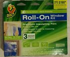 Duck Brand 281067 Roll-On Indoor 3-Window Premium Insulating Film Kit  62-Inch b