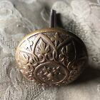 Antique Victorian Vernacular Solid Heavy Brass Door Knob. With Spindle